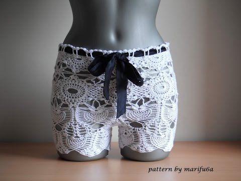 Cómo se hace un short a crochet / Tutorial | Crochet y Dos agujas
