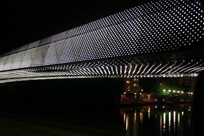 The bridge lights