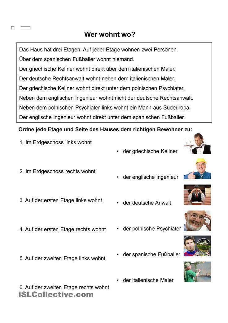 31 besten Leseverstehen Bilder auf Pinterest   Deutsch lernen ...