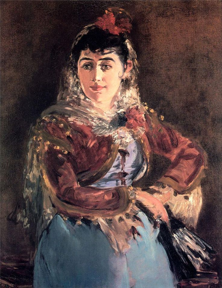 Portrait of opera singer Emilie Ambre in role of Carmen - Edouard Manet 1879