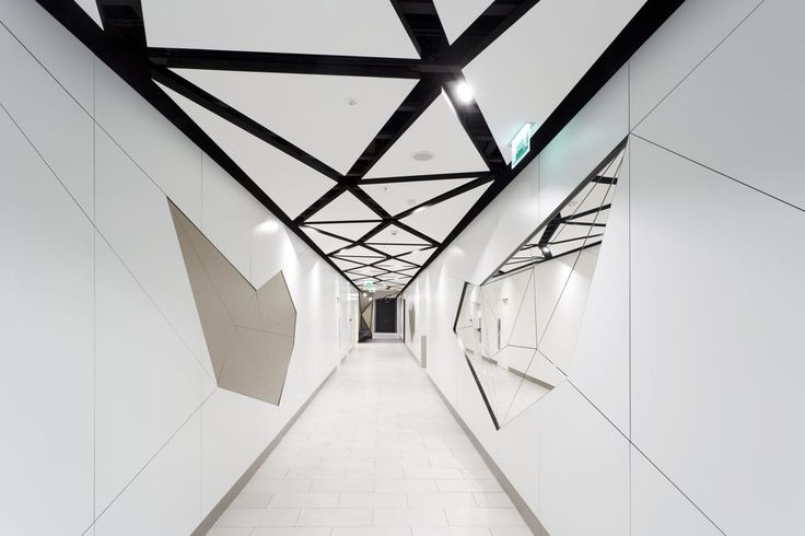 Design of the interior for public toilets and corridors in SC Złote Tarasy, stage 02. #geometric #minimal #zlotetarasy #architecture #design #interiors #art #light#