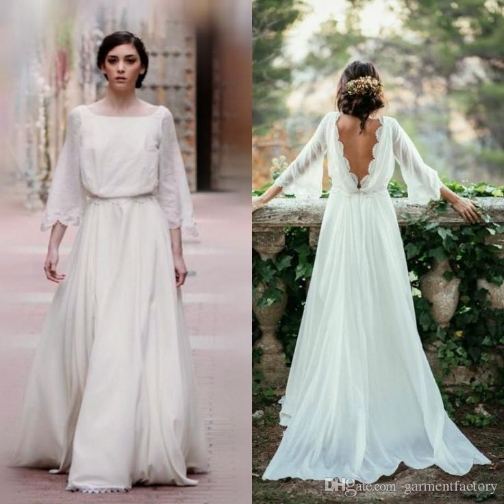 Wholesale low cost wedding dresses, photos of dresses and pictures of wedding gowns on DHgate.com are fashion and cheap. The well-made 2016 fall country wedding dresses square neckline a-line sweep train low cut back ivory chiffon bell sleeves boho bohemian wedding dresses sold by garmentfactory is waiting for your attention.