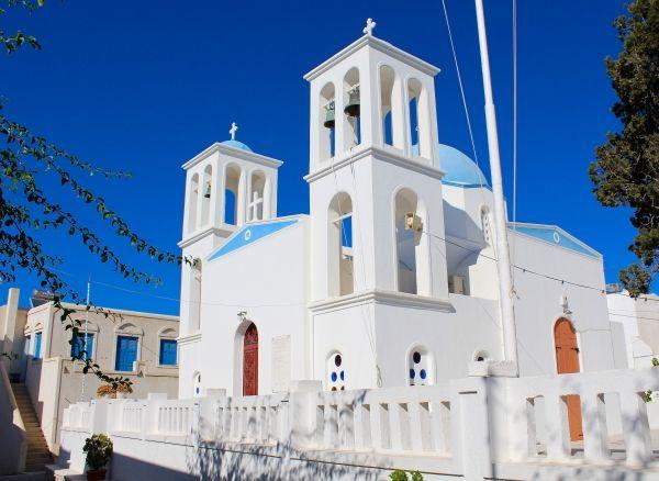 Church of Panagia Akathi, blue and white