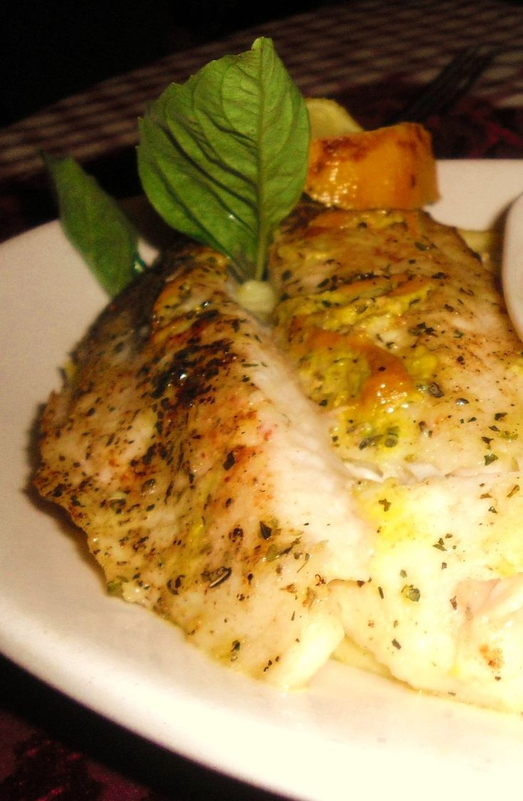 Baked Fish - Lemon Butter..find the best designer swimsuits out there SouthBeachSwimsuits.com