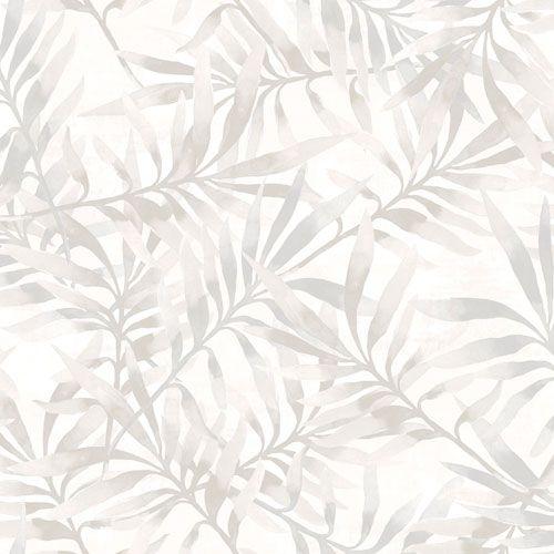 Frodigt bladverk i ljusa grå toner från kollektionen Arcadia AC-18560. Klicka för att se fler tapeter för ditt hem!