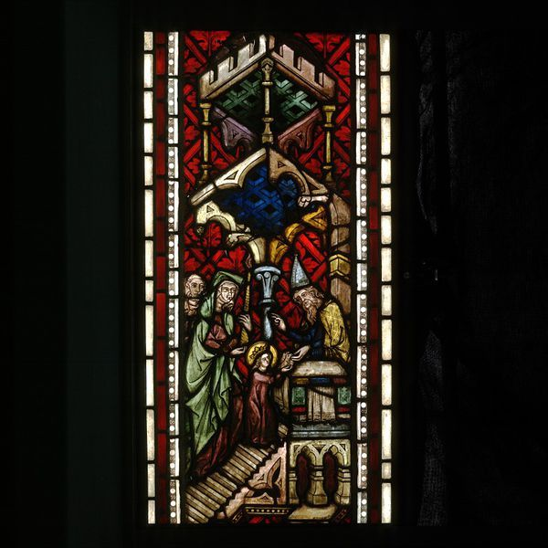 Presentation of Mary in the Temple  Object: Panel  Place of origin: Styria, Austria (made)  Date: ca. 1350-1355 (made)  Artist/Maker: Unknown (production)  Materials and Techniques: Stained glass