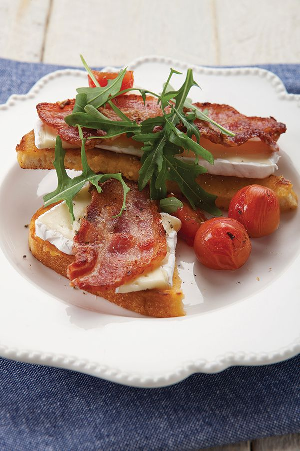 French Toast covered it in bacon, rocket and brie http://www.spur.co.za/sauces/recipes/delicious-french-toast
