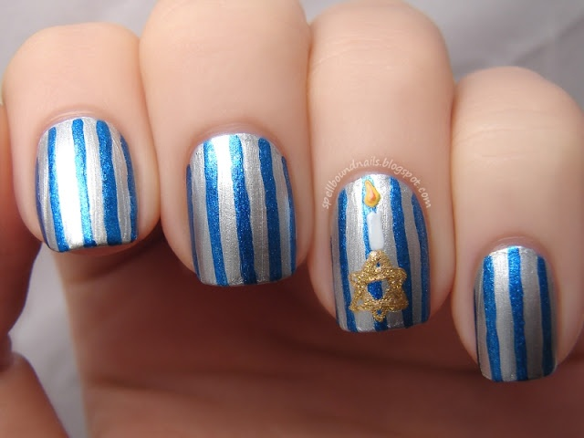 50+ best Hanukkah Nail Art images by Ms. L on Pinterest | Cute nails ...
