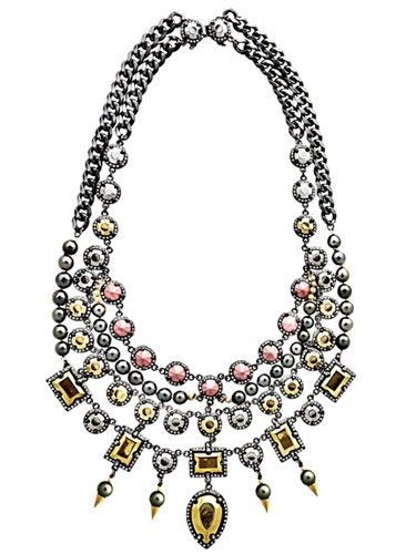 Fenton Jeweled Necklace      Fall Clothes and Accessories 2012 - New Fall Looks 2012     - Marie Claire: Fall Clothing, Bibs Fenton, Beautiful Jewelry, Fenton Bibs, Clothing Clothing, Fashion Trends, Accessories, Fonssagr Bibs, Bibs Necklaces