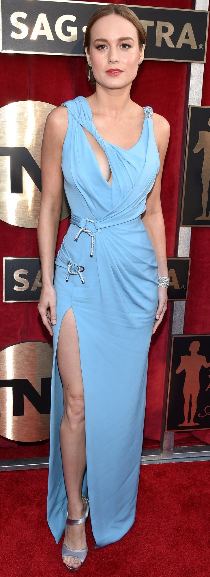 """Pin for Later: Brie Larson Knew Her Sexy SAG Awards Dress Was """"the One"""" —and We Couldn't Agree More"""