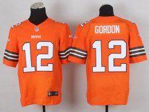 Cleveland Browns #12 Josh Gordon Orange Elite Jersey