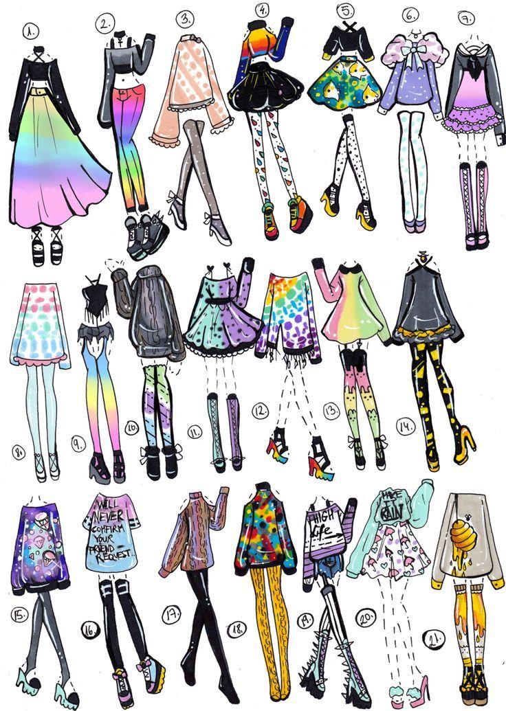 Красивая одежда рисунки без людей