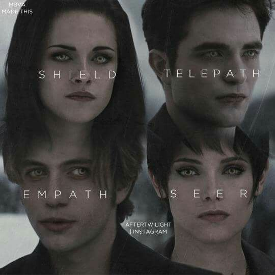 Bella, Edward, Jasper, Alice Powers