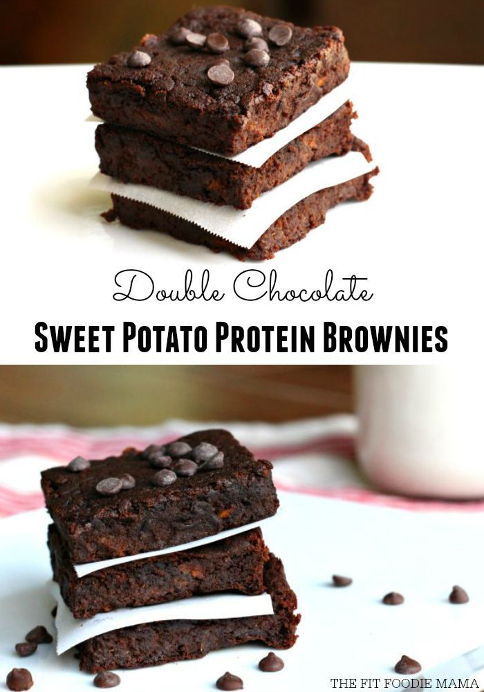 Foodie Friday: Double Chocolate Sweet Potato Protein Brownies {Vegan, Gluten Free, Grain Free, Soy Free, No Refined Sugars} | The Fit Foodie Mama