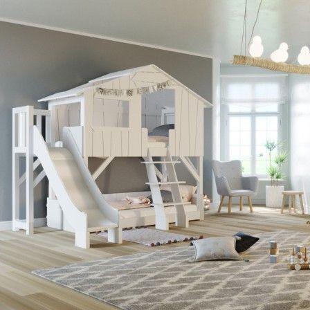 Stapelbed Met Dubbel Bed.Boomhut Dubbel Bed Glijbaan Platform Mdf Grenen Mathy By