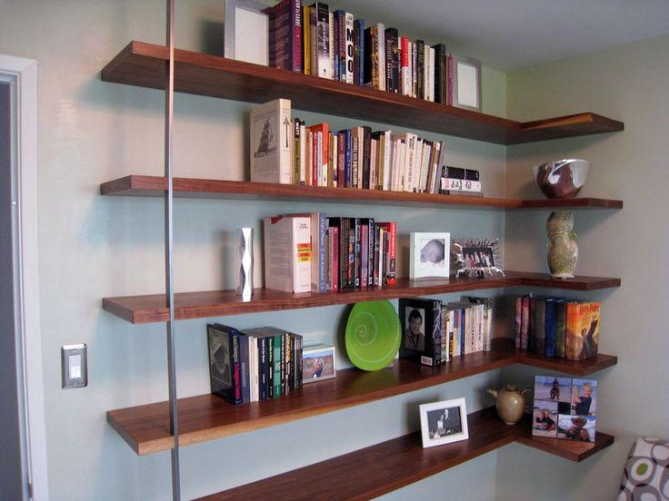 Floating Mid-Century Modern Wall Shelves