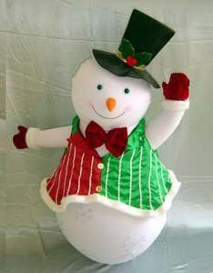 "Indoor 54"" Inflatable Frosty Christmas Snowman #H4743"