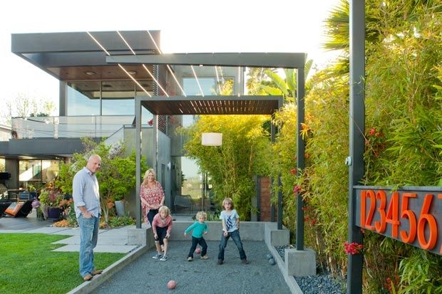 Bocce court - nice proportion in the overhead structures -