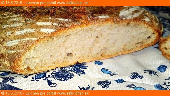 Vytlačiť Domáci biely ošatkový kváskový chlieb Ingrediencie 250 g aktívneho kvásku z hladkej bielej hl chlebovej múky 250 g hladkej svetlej chlebovej múky T 650 250 g hladkej múky extra špeciál 00 300 ml nesýtenej minerálnej vody Bonaqua/inej nesýtenej 1 zarovnaná polievková lyžica soli Inštrukcie Recept na Kvások z hladkej bielej chlebovej múky je TU …