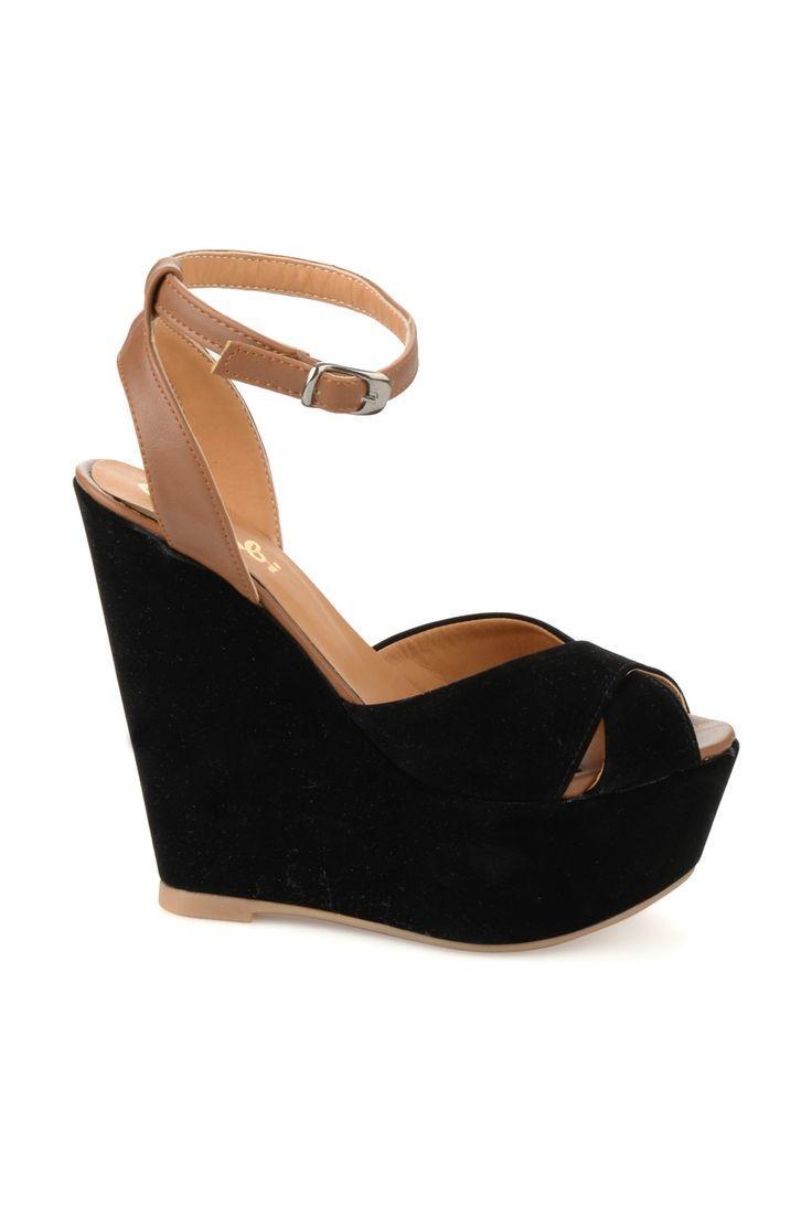 Siyah Sandalet Z0670046172 Bambi | Trendyol