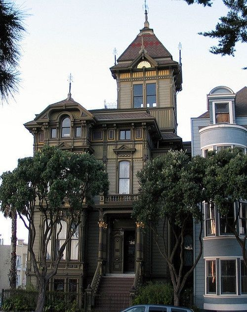 17 best images about beautiful houses on pinterest queen for San francisco victorian houses