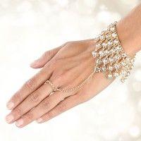 Strass Armband mit Ring