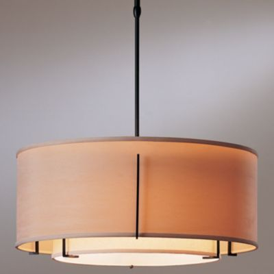 Exos Double Shade Suspension- Medium by Hubbardton Forge - outer shade diameter 22""