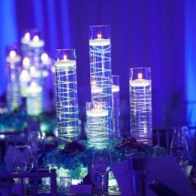 Neon wire, floating candle centerpiece
