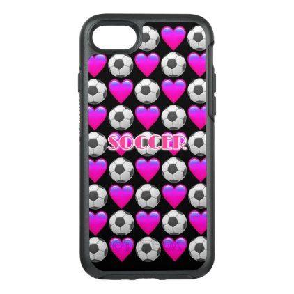 #girly - #Pink Soccer Emoji iPhone 7 Otterbox Case