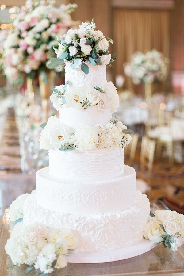 902 best wedding cakes images on pinterest cake wedding wedding elegant tiered wedding cake with roses junglespirit