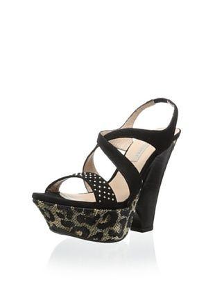 63% OFF Pura Lopez Women's Wedge Sandal (Ante Negro)