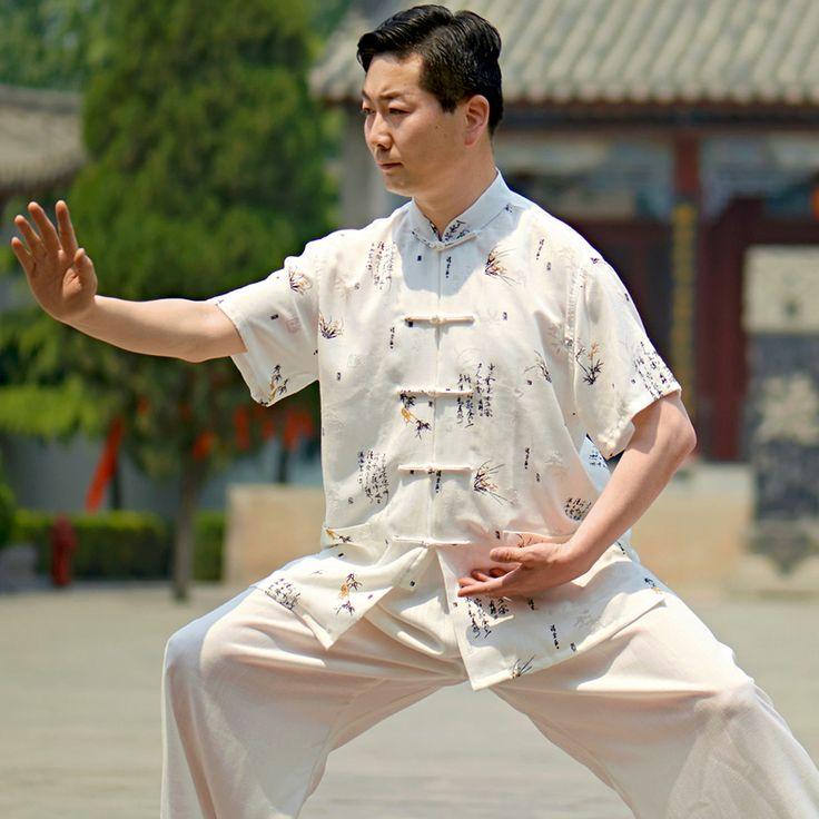 Ли Цян новая весна белье мужчины загружалась короткими рукавами лето тай-чи одежды боевых искусств осуществляет власть костюм