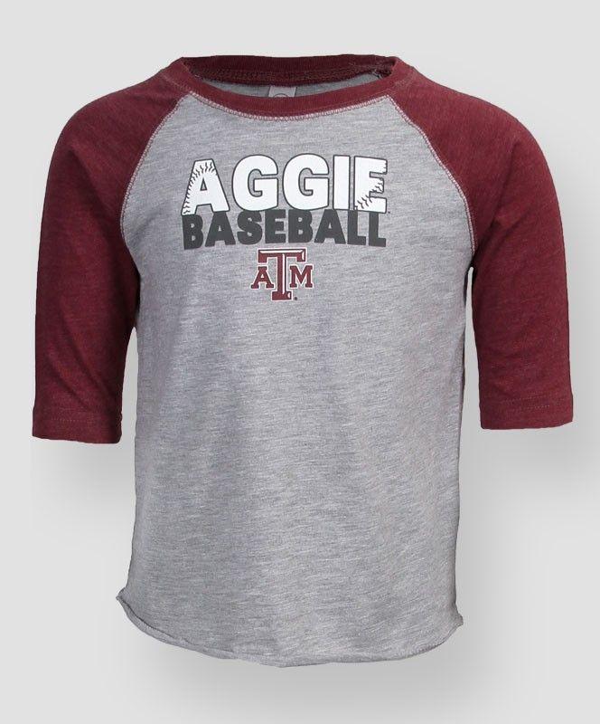 Texas A&M Aggie Baseball toddler raglan t-shirt #AggieGifts #FutureAggies