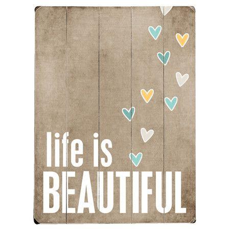 Life is beautiful wall decor at joss and main