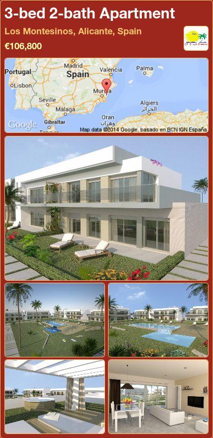3-bed 2-bath Apartment for Sale in Los Montesinos, Alicante, Spain ►€106,800