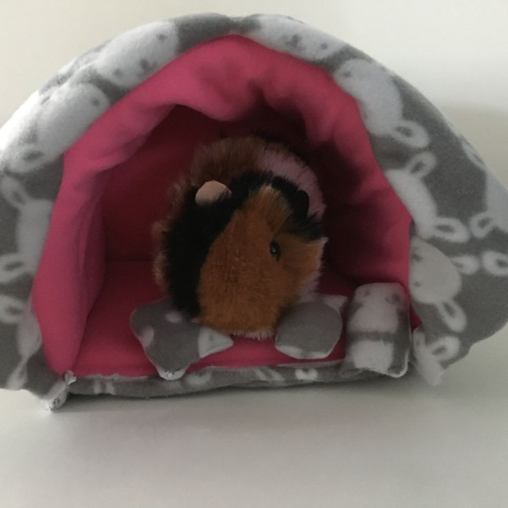 New to CreatedbyLauraB on Etsy: Guinea pig bed guinea pig hideout guinea pig cozy pet hideout pet bed guinea pig accessories guinea pig fleece small pet bed (40.00 USD)