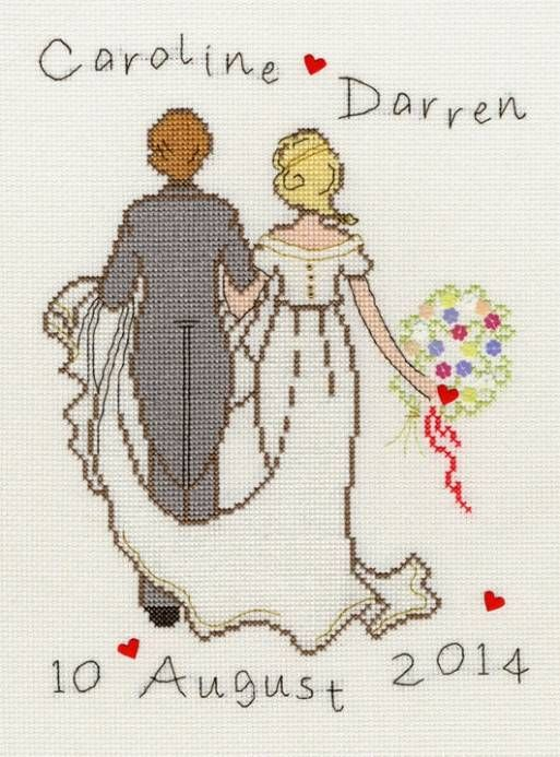 Happy Ever After Cross Stitch Kit £24.00 | Past Impressions | Bothy Threads