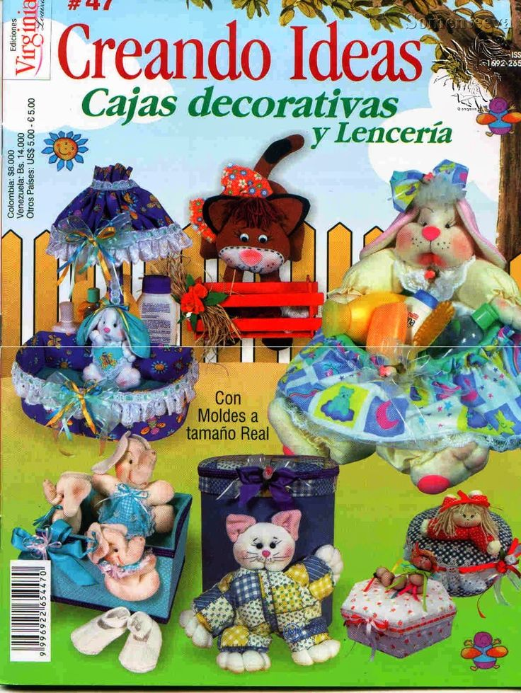 Revistas de manualidades Gratis: Como decorar cajas / lenceria