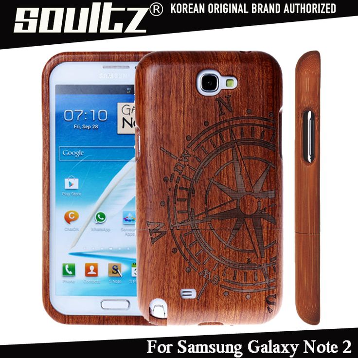 Korea SOULTZ Handmade Nature Real Bamboo Wood Mobile Phone Case for Samsung Galaxy Note 2 N7100 Protective Cover Hard Back Case