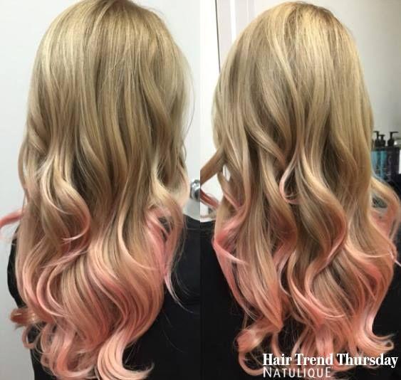 Peachy coloured hairtips from Vine Hair & Makeup. Perfect summerhair! #NATULIQUE #NATULIQUEchic #HairTrendThursday #Colouring #Natural #BraidAid