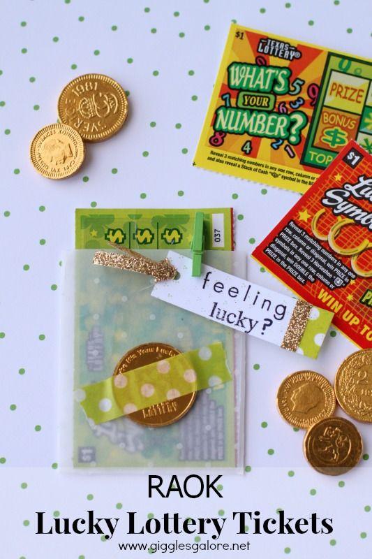 Lottery ticket gift ideas on pinterest random acts lotto tickets