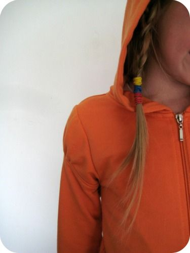 The tutorial is finally here!  Deconstruct an oversized (hubby's) sweat shirt into a cardigan for me!  The original pin was mustard colored and now she is sewing an orange hoodie for a child. same instructions.