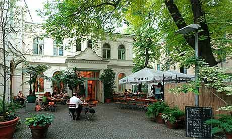 Cafe Rix, Karl-Marx-Strasse 141, Neukölln, Berlin. Reservations are a must for the weekend brunch, which costs €8 per person and includes a glass of orange juice. Mon-Thurs 9am-midnight, Fri-Sat 9am-1am, Sun 10am-midnight