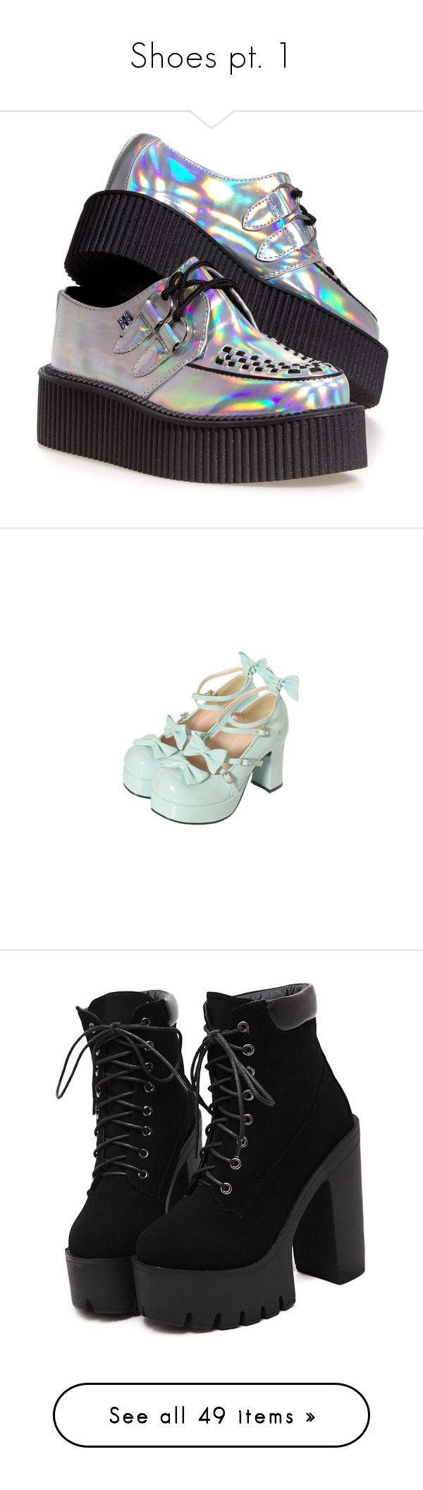 """""""Shoes pt. 1"""" by ariagrimesqoutev ❤ liked on Polyvore featuring shoes, creepers, sneakers, t.u.k. flats, flat shoes, oxford flats, flat pump shoes, creeper shoes, converse and blue"""