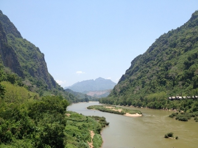 Nong Khiaw, Laos- It is way, way more beautiful in real life! I saw a picture in an airplane magazine, and I knew immediately I HAD to go there :)