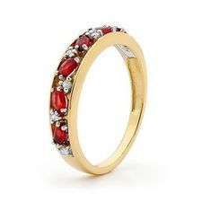 Created Ruby and Diamond Eternity Ring - BEE-25373-CR