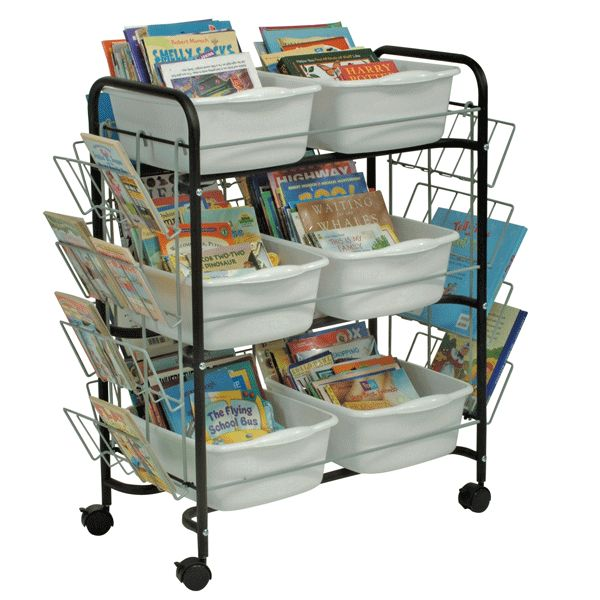 The unique and simple design of this cart accommodates restricted budgets. As well, ideal for single classroom use to store classroom book collections.