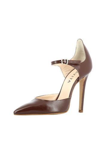 Für die selbstbewusste Lady, die hoch hinaus will: Der aufregende Lederpumps von EVITA passt nicht nur gut zum hübschen Kleid, sondern peppt auch Basic-Outfits auf wie Jeans und Blazer. Handgefertigt aus Italien sieht man dem guten Stück Stil und Qualität schon von weitem an. Perfetto! EVITA - Leidenschaft für italienische Schuhe