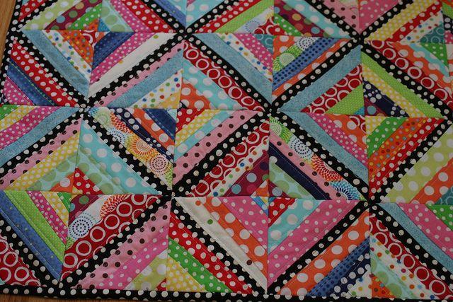 love the polka dot quilt