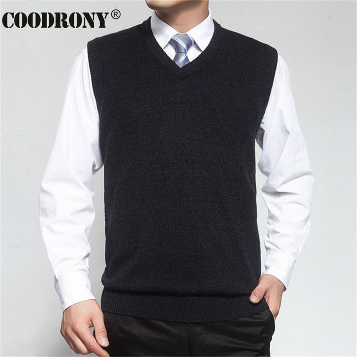 2016 New Autumn Winter Cashmere Classic Vest Sweater Men Sleeveless Sweaters Solid Color V-Neck Wool Pullovers Men Jersey Hombre //Price: $26.22 & FREE Shipping //     #hashtag1